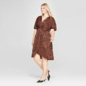 Ava & Viv Hi Low Animal Print Dress Plus 4x